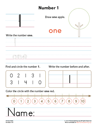 all about number 0 worksheet