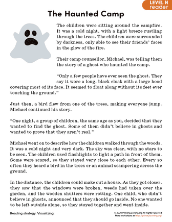 halloween comprehension passage