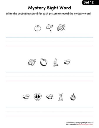 free 1st grade sight words worksheets