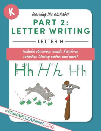 writing letter h printable