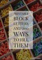 Printable Block Letters & 200 Ways to Fill Them