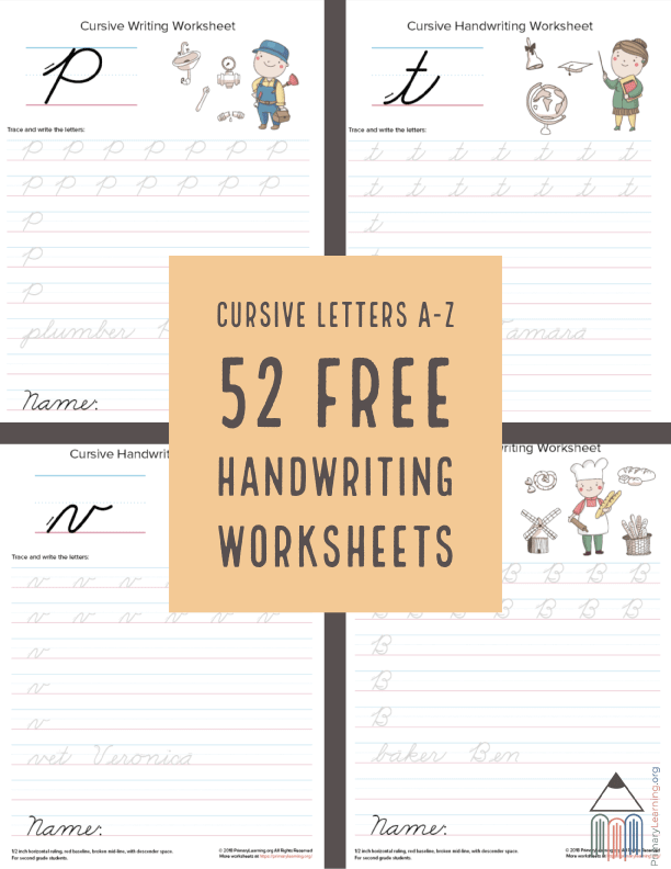 52 FREE Cursive Handwriting Worksheets - Homeschool Giveaways